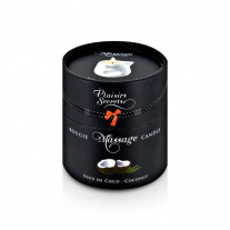 Свеча с массажным маслом Кокос Plaisirs Secrets - Massage Candle - Coconut, 80 мл