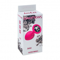 Анальная пробка Lola Toys - Emotions - Cutie Small - Pink - Black Crystal, розовая