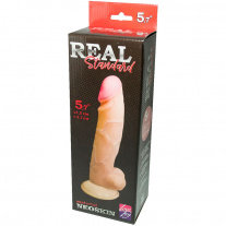 Фаллоимитатор Lovetoy - Real Standard, 14 x 3,7 см, реалистичный, из неоскина, телесный