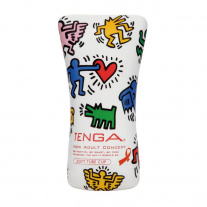 Мастурбатор Tenga - Keith Haring Collaborations - Soft Tube Cup, белый