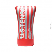 Мастурбатор Tenga - Cup Series - Ultra Size - Soft Tube Cup, красный
