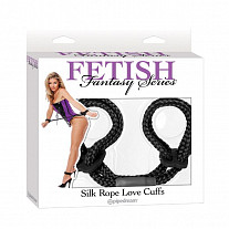 Фиксаторы Pipedream - Fetish Fantasy Series - Silk Rope Love Cuffs, в японском стиле, черные
